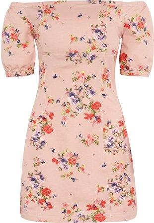Floral Off the Shoulder Minidress