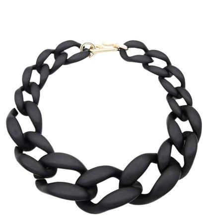 Chunky acrylic black chain necklace