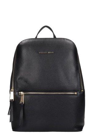Michael Kors Backpack In Black Leather