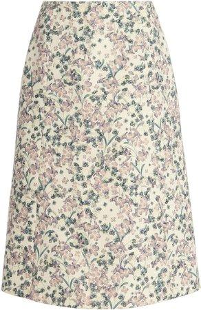 Luisa Beccaria Floral-Printed Skirt