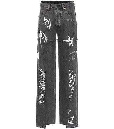 VETEMENTS x Levi's® – high-rise wide-leg jeans