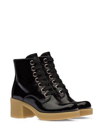 Miu Miu military-style ankle boots - FARFETCH