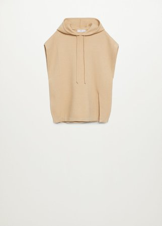 Knit hooded gilet - Women | Mango USA