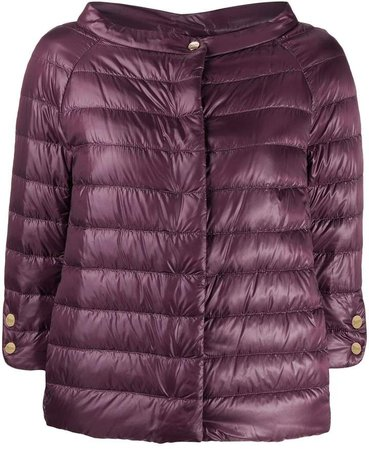cropped sleeves puffer jacket