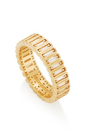Inlay Collection 18K Yellow-Gold Eternity Band by Suzanne Kalan | Moda Operandi