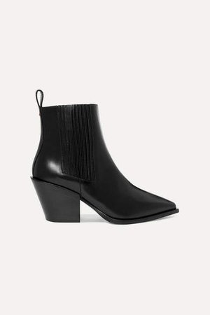Aeydē aeyde - Kate Leather Ankle Boots - Black