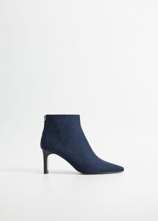 Heel suede ankle boots - Women | Mango USA