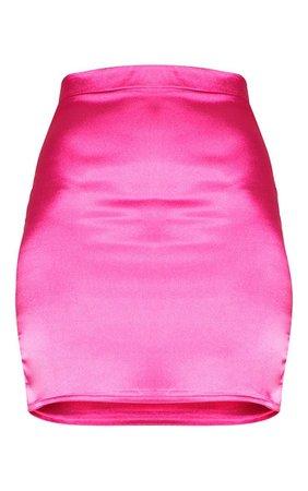 Pink Satin High Waisted Mini Skirt | PrettyLittleThing