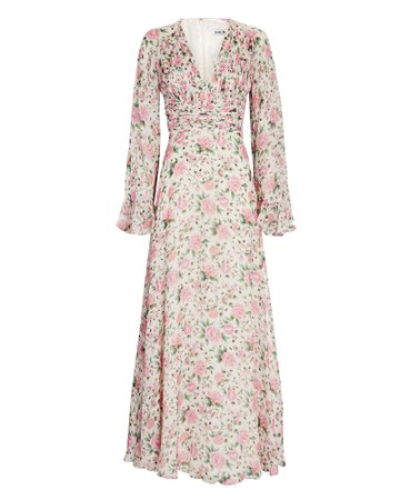 AMUR Ros Floral Silk Chiffon Gown | INTERMIX®