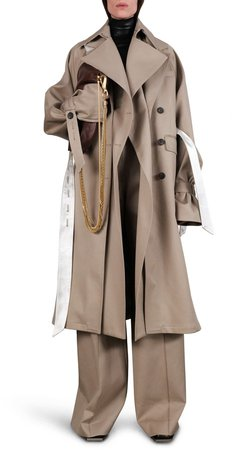 Oversize Layered Trench Coat
