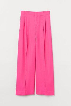 Wide-cut Pants - Pink
