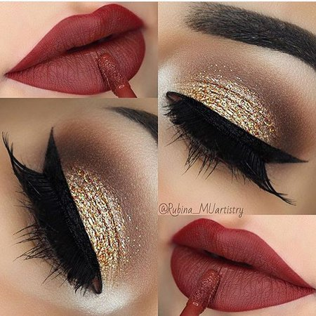21 Looks: Eye Makeup for Red Lips - CherryCherryBeauty