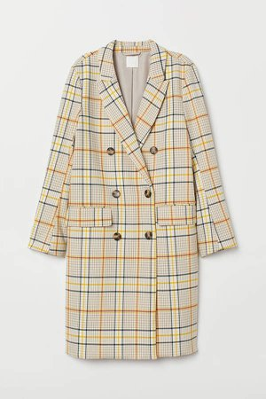 Double-breasted Coat - Beige
