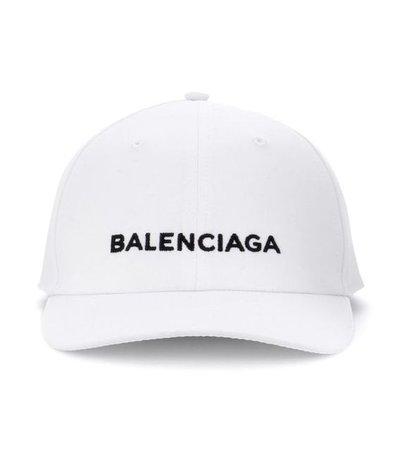 White Balenciaga Hat