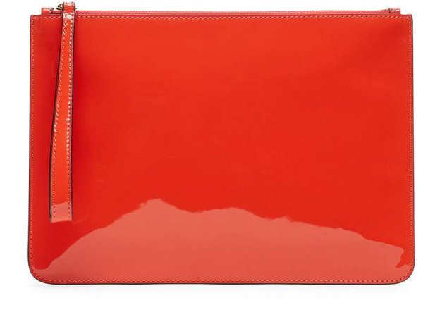 Patent Leather Wristlet Clutch