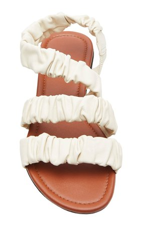 Ellie Ruched Sandals by Staud | Moda Operandi