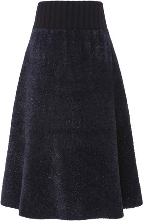 Ruffled Terry Skirt