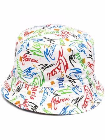 Palm Angels x Missoni Scribble Bucket Hat - Farfetch