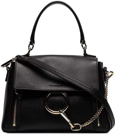 Black Faye Day Leather Shoulder Bag