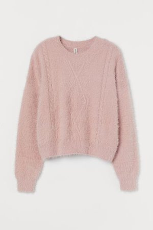Cable-knit Sweater - Light pink - Ladies | H&M US