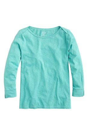 J.Crew Boatneck Painter T-Shirt (Regular & Plus Size) | Turquoise