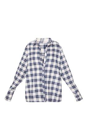 Black Check Oversized Shirt | Tops | PrettyLittleThing USA