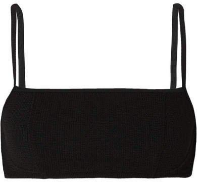 Seersucker Bikini Top - Black