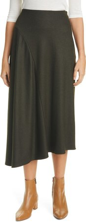 Cozy Asymmetrical Midi Skirt
