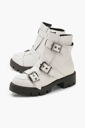 Buckle Trim Cleated Hiker Boots | Boohoo