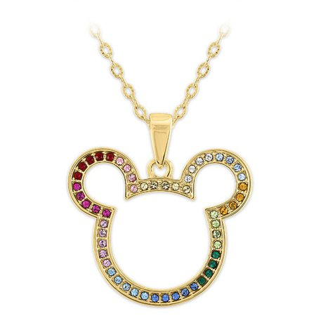 Mickey Mouse Icon Swarovski Crystal Rainbow Necklace | shopDisney