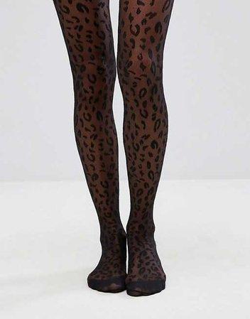 ASOS DESIGN   ASOS DESIGN leopard tights
