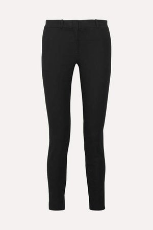 Eliston Stretch-gabardine Slim-leg Pants - Black