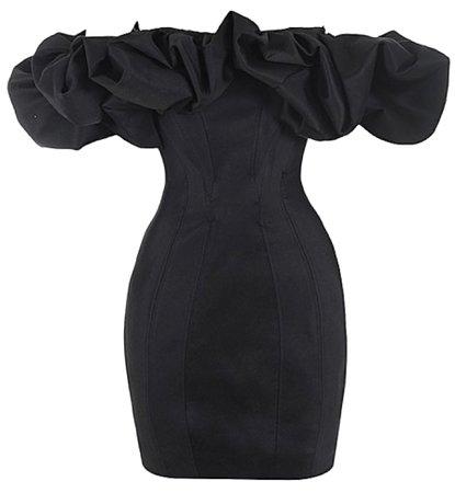 black house of CB ruffle off shoulder dress