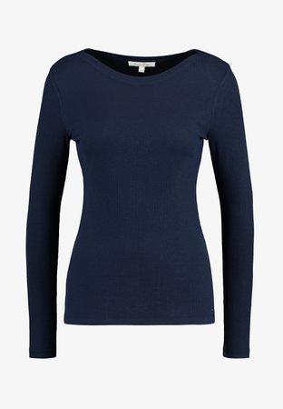 TOM TAILOR DENIM BASIC - Langærmede T-shirts - real navy blue - Zalando.dk