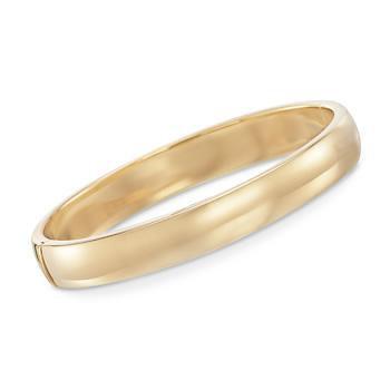 Ross-Simons - 10mm 18kt Gold Over Sterling Silver Bangle Bracelet - #846454