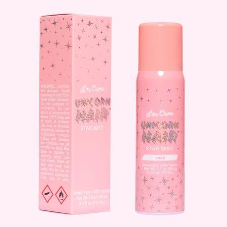 Rose Gold Glitter Hair Spray - Unicorn Hair   Lime Crime - Lime Crime