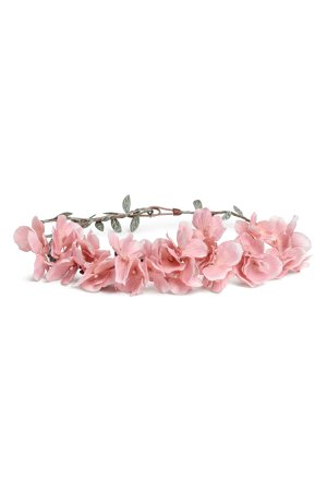 Rigid Hairband with Flowers | Light pink | SALE | H&M US