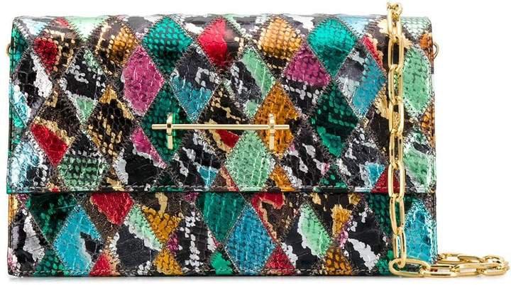 diamond snakeskin shoulder bag