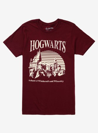 *clipped by @luci-her* Harry Potter Hogwarts Outline T-Shirt