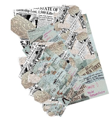 ripped news paper