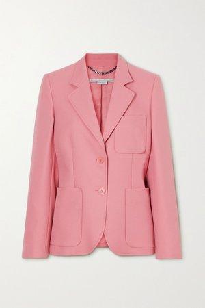 Pink + NET SUSTAIN Eleanor twill blazer   Stella McCartney   NET-A-PORTER
