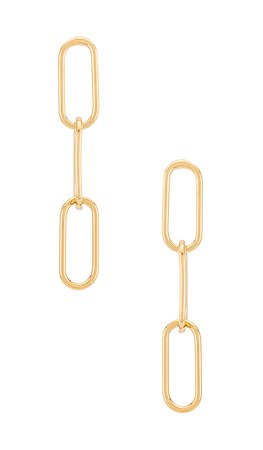 EIGHT by GJENMI JEWELRY Chained Up Earrings in Gold | REVOLVE