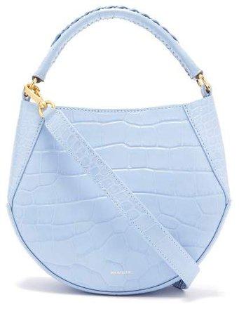 Wandler - Corsa Mini Crocodile Effect Leather Tote - Womens - Light Blue