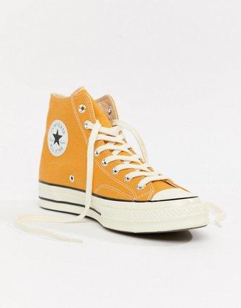 Converse All Star Chuck '70 Hi Top Sneakers in Yellow | ASOS