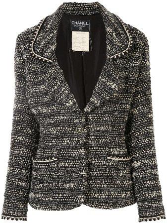 Chanel Pre-Owned Veste Droite En Tweed à Boutons CC - Farfetch