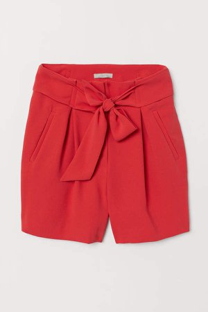 Fitted Shorts - Red