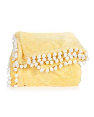 Plush Pom Pom Throw-Throws-Blankets & Throws-Bedding-Bed & Bath | Stein Mart