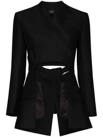A.W.A.K.E. Mode Deconstructed Collarless Blazer Jacket - Farfetch