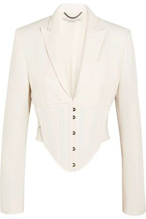 Abigail cropped cutout cady jacket STELLA McCARTNEY | Sale up to 70% off | THE OUTNET