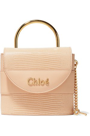 Chloé | Aby Lock lizard-effect and smooth leather tote | NET-A-PORTER.COM